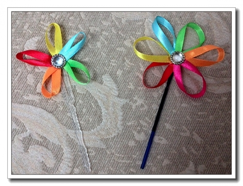亲子手工——彩带花